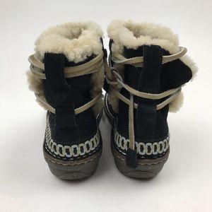 UGG Shoes - UGG Australia Cove Sheepskin Black Suede Boots
